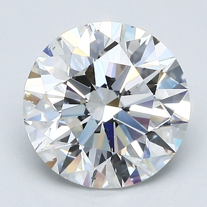 Round 2.02 Carat G Color VS2 Clarity For Sale