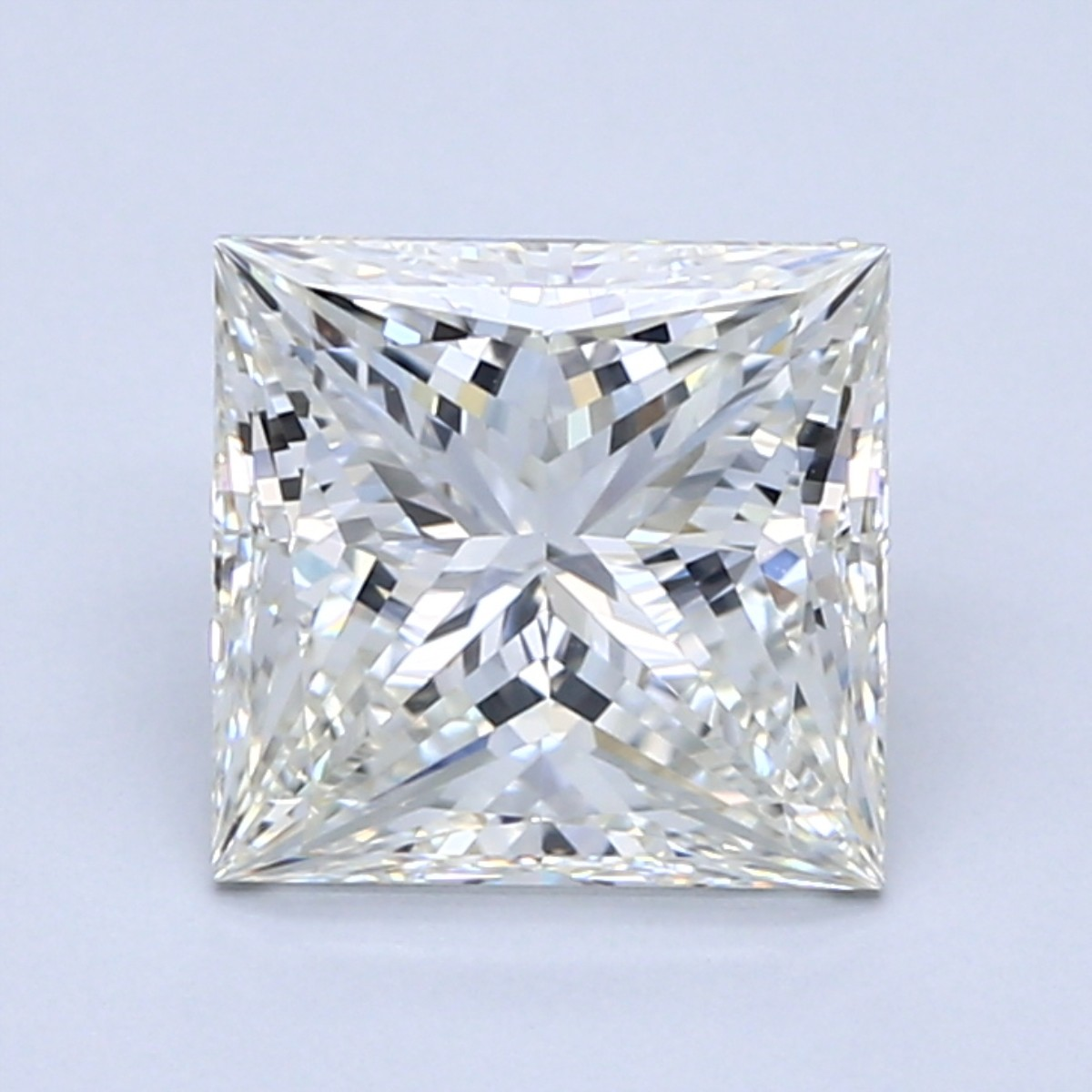 2.5 carat J color princess cut diamond