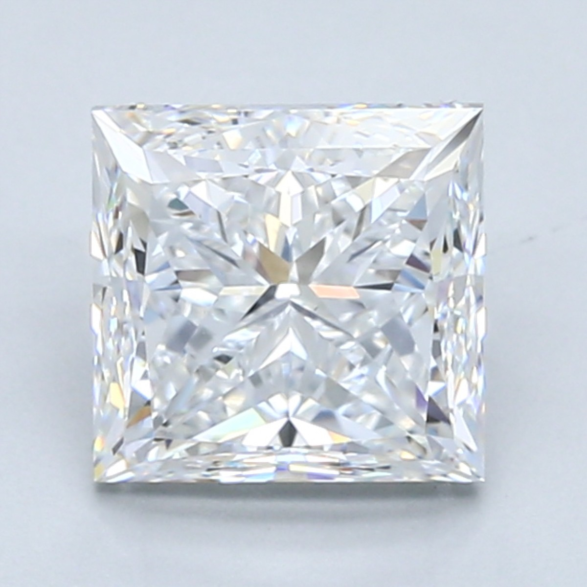 2.5 carat D color princess cut diamond