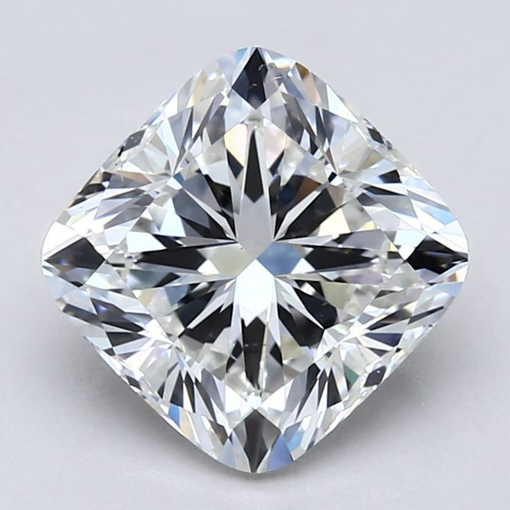 Cushion 3.07 Carat G Color VS2 Clarity For Sale