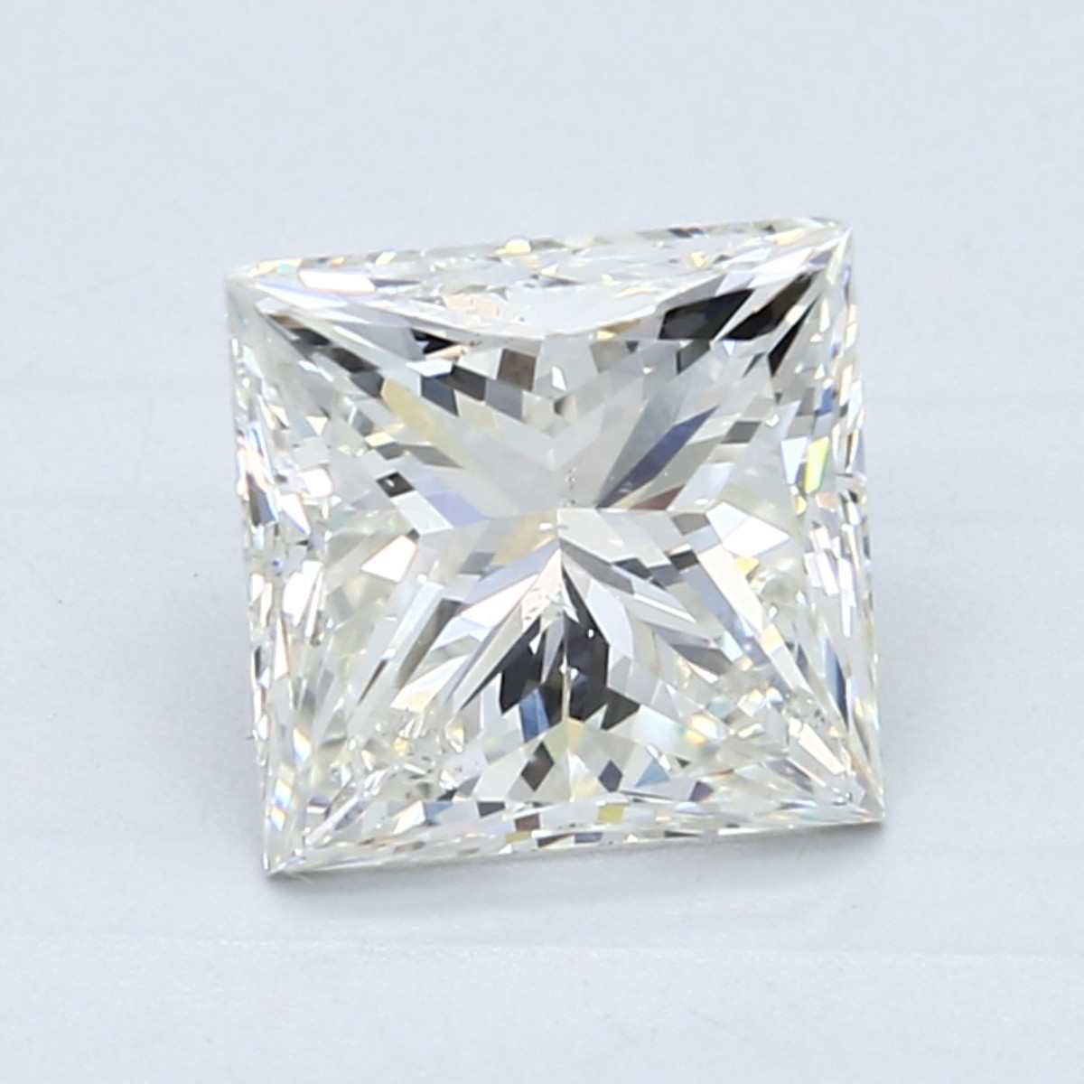 2.5 carat K color princess cut diamond