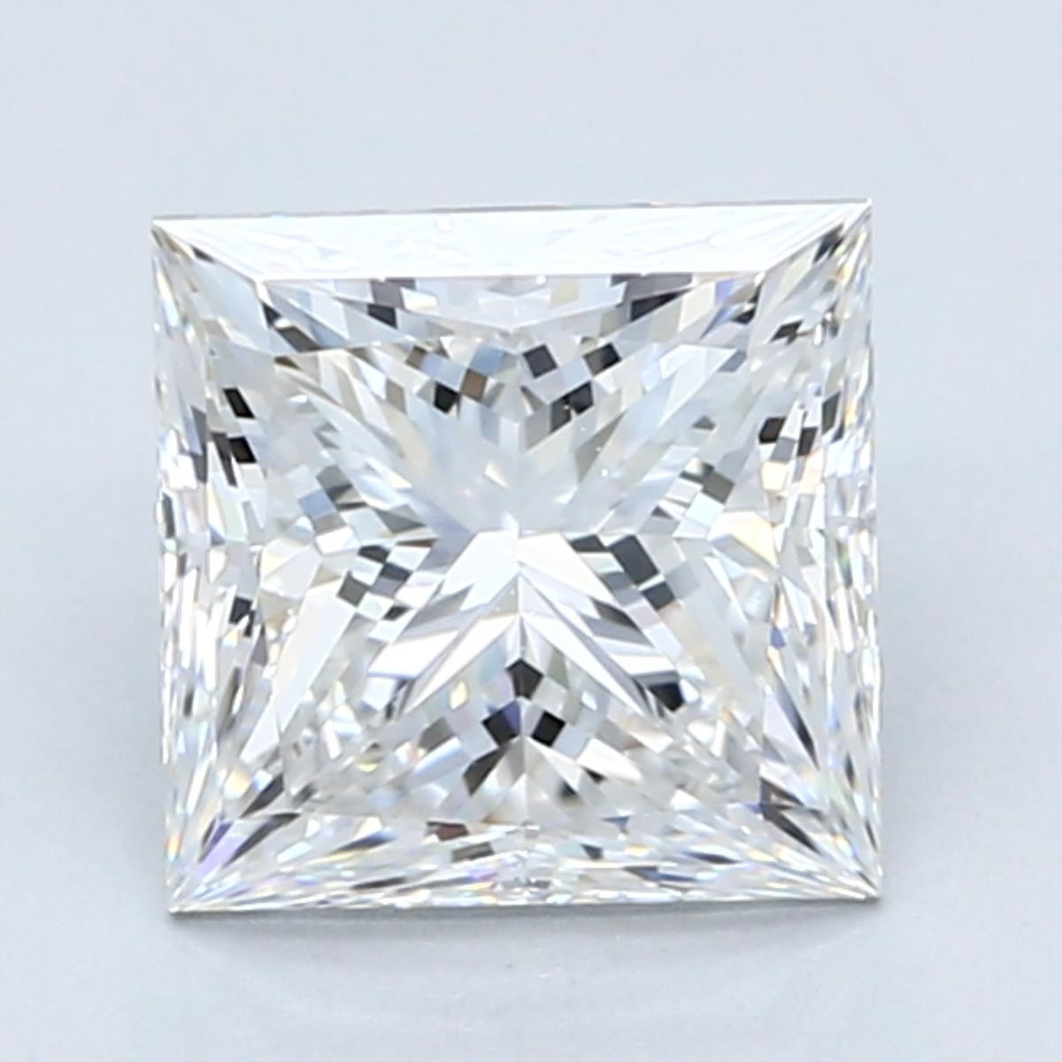 2.5 carat E color princess cut diamond
