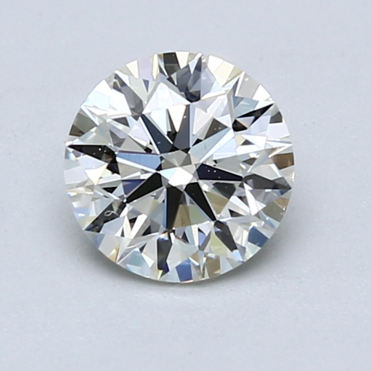 1.2 carat K VVS1 diamond facing up white due to high cut quality